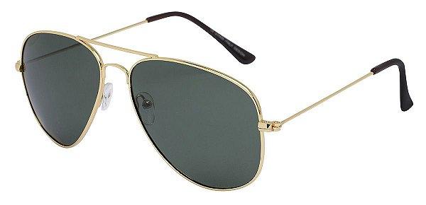 Óculos de Sol Aviador Unissex AT 3026 Dourado