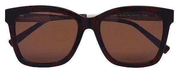 Óculos de Sol Feminino AT 88104 Marrom Transparente