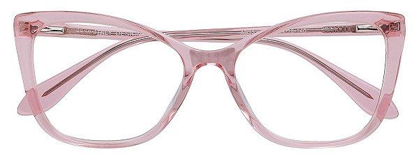 Armação Óculos Receituário AT 33221 Rose Transparente