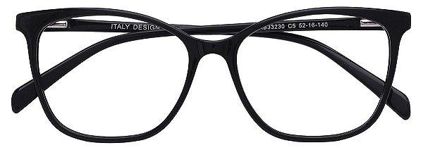 Armação Óculos Receituário AT 33230 Preto