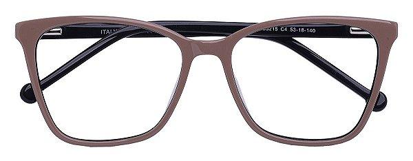 Armação Óculos Receituário AT 33215 Nude/Preto