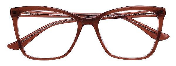 Armação Óculos Receituário AT 33223 Marrom Transparente