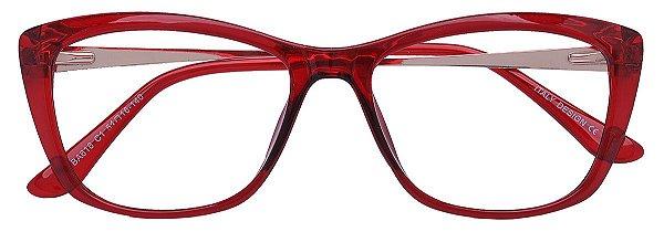 Armação Óculos Receituário AT 616 Vermelho Transparente