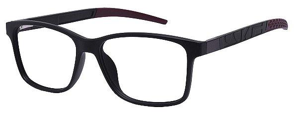 Armação Óculos Receituário AT 1057 Preto/Vermelho