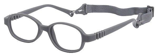 Armação Flexível infantil TIPO Miraflex AT 6037 Cinza (01 a 03 Anos)