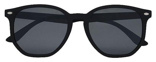 Óculos de Sol Unissex AT 72084 Preto Hexagonal