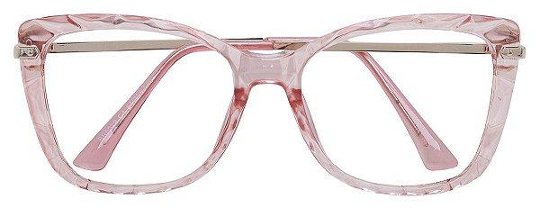 Armação Óculos Receituário AT 6029 Rosé Transparente Mosaico