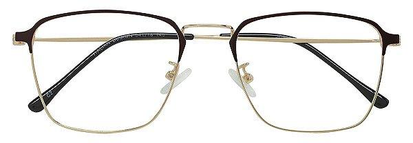 Armação Óculos Receituário AT 9136 Marrom/Dourado