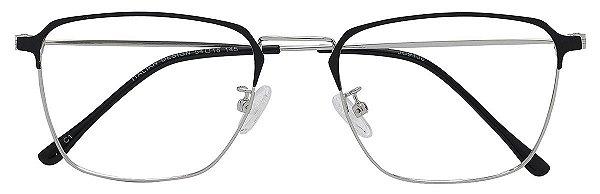 Armação Óculos Receituário AT 9136 Preto/Prata