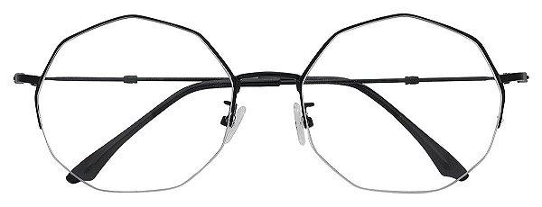 Armação Óculos Receituário AT HX9902 Preto Hexagonal
