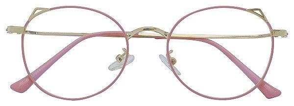 Armação Óculos Receituário AT 211 Rosa