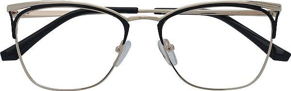 Armação Óculos Receituário AT 8381 Preto/Dourado
