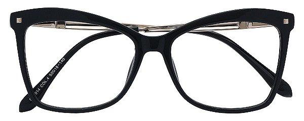 Armação Óculos Receituário AT 5514 Preto