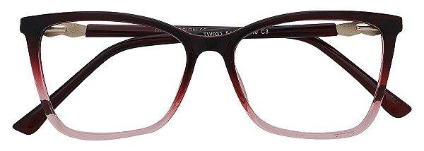 Armação Óculos Receituário AT 931 Vermelho Degradê