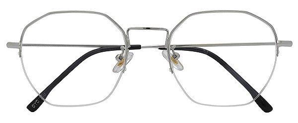 Armação Óculos Receituário AT 210 Prata