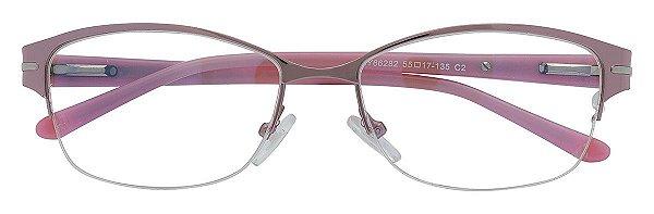 Armação Óculos Receituário AT 66282 Lilás Metálico