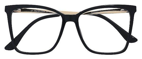 Armação Óculos Receituário AT 2209 Preto