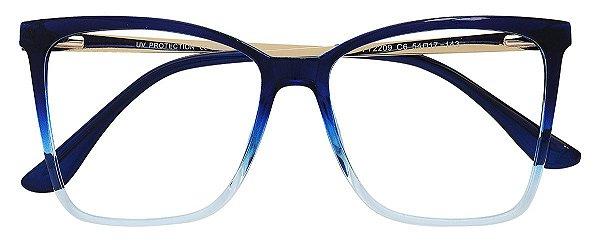 Armação Óculos Receituário AT 2209 Azul Degradê