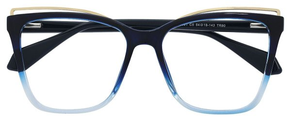 Armação Óculos Receituário AT 7001 Azul Degradê
