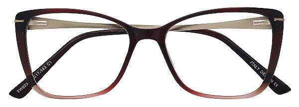 Armação Óculos Receituário AT 923 Vermelho Degradê