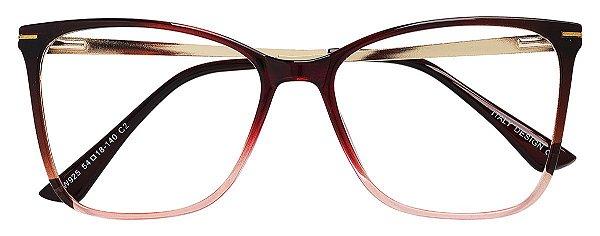 Armação Óculos Receituário AT 925 Vermelho Degradê