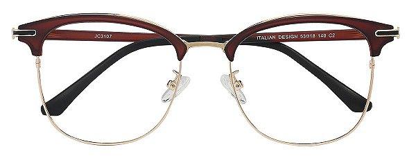 Armação Óculos Receituário AT 3107 Marrom