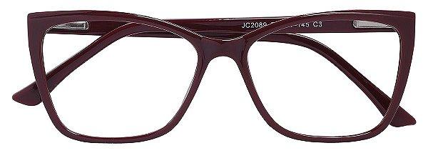 Armação Óculos Receituário AT 2089 Vinho