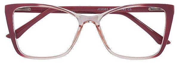 Armação Óculos Receituário AT 2085 Rosa/Champagne Transparente