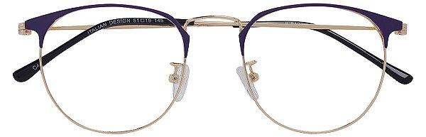 Armação Óculos Receituário AT 9121 Roxo/Dourado