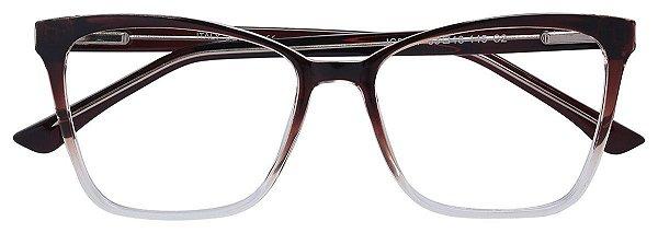 Armação Óculos Receituário AT 2087 Marrom Degradê