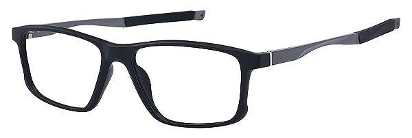 Armação Óculos Receituário AT 5827 Preto/Prata