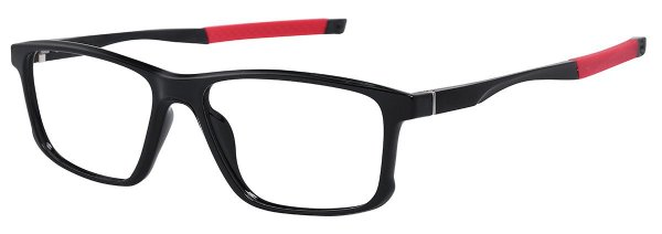 Armação Óculos Receituário AT 5827 Preto/Vermelho