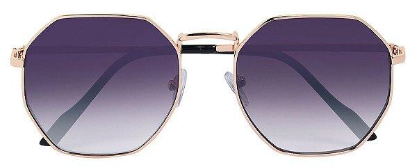 Óculos de Sol Unissex AT 71141 Dourado Hexagonal