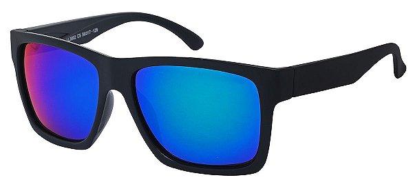 Óculos de Sol Masculino AT 3002 Preto/Azul Espelhado