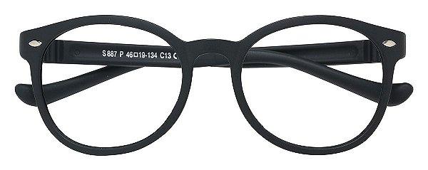 Armação Óculos Receituário AT 887 Preto (08 A 17 Anos)