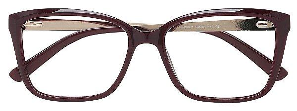 Armação Óculos Receituário AT 98001 Vinho