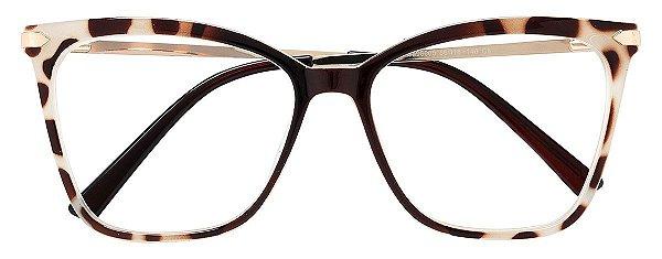 Armação Óculos Receituário AT 98005 Animal Print