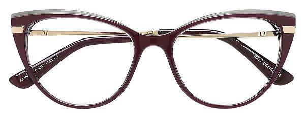 Armação Óculos Receituário AT 98143 Vinho