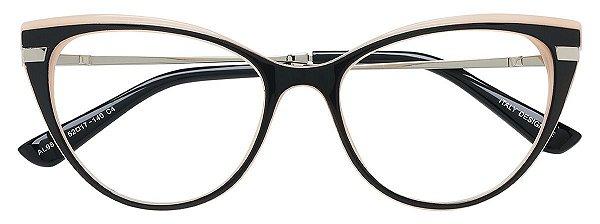 Armação Óculos Receituário AT 98143 Preto/Rosa