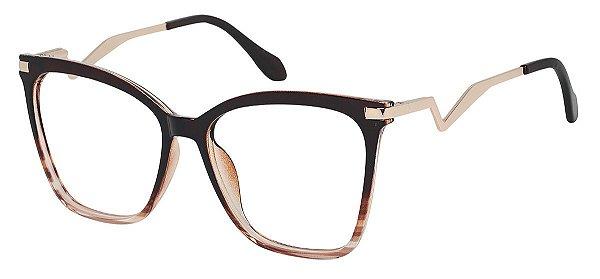 Armação Óculos Receituário AT 98006 Marrom Degrade