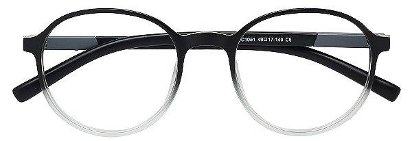 Armação Óculos Receituário AT 1051 Preto Degradê