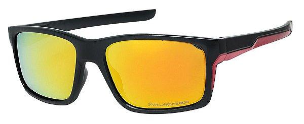 Óculos de Sol Masculino AT 9264 Preto/Amarelo Espelhado
