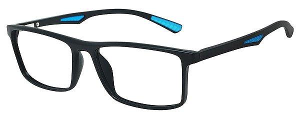 Armação Óculos Receituário AT 1067 Preto/Azul