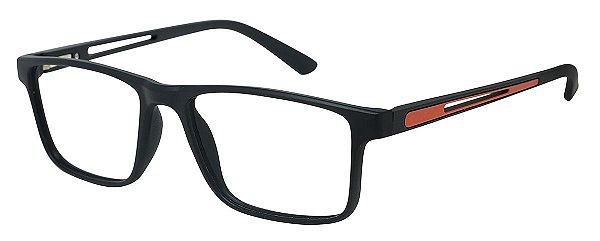 Armação Óculos Receituário AT 1042 Preto/Laranja