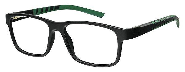 Armação Óculos Receituário AT 1065 Preto/Verde