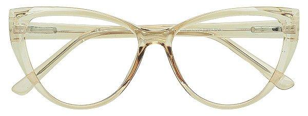 Armação Óculos Receituário AT 66001 Pérola Transparente
