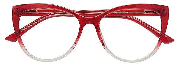 Armação Óculos Receituário AT 1151 Vermelho Degradê
