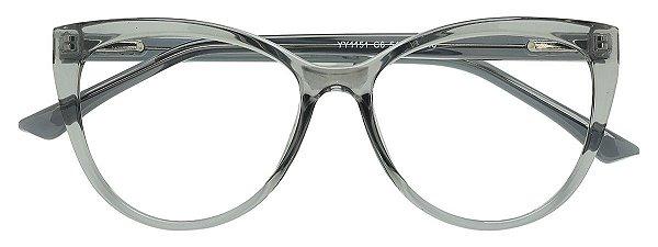 Armação Óculos Receituário AT 1151 Cinza Transparente