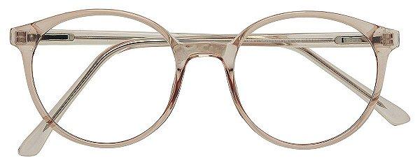 Armação Óculos Receituário AT 1041 Marrom Transparente