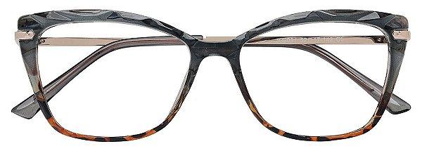Armação Óculos Receituário AT 2091 Mosaico Cinza/Tartaruga
